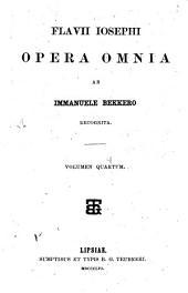 Flavii Iosephi opera omnia: Volume 4
