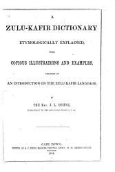 A Zulu Kafir Dictionary PDF