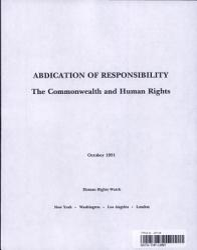 Abdication of Responsibility PDF