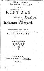 The History of the Parliament of England