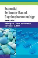 Essential Evidence Based Psychopharmacology PDF