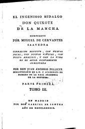 El Ingenioso Hidalgo Don Quixote de La Mancha: Parte primera. 3