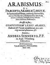 Arabismus: h. e. praecepta arabicae linguae