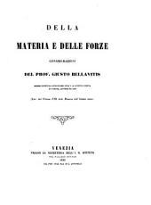 Della materia e delle forze: considerazioni