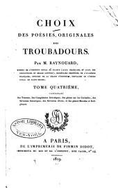 Choix des poésies originales des troubadours: Volume4