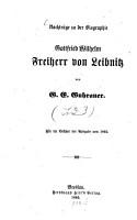 Gottfried Wilhelm Freiherr von Leibnitz PDF