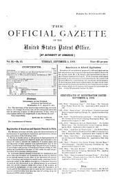 Official Gazette of the United States Patent Office: Volume 92