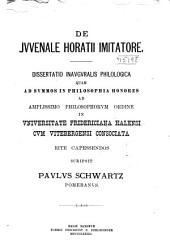 De Jvvenale Horatii imitatore