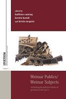 Weimar Publics Weimar Subjects PDF