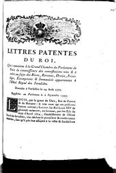 Lettres patentes du Roi, qui renvoient à la Grand Chambre du Parlement de Paris la connoissance des contestations nées & à naître au sujet des Biens, Revenus, Droits, Priviléges, Exemptions & Immunités appartenans à l'Hôtel Royal des Invalides: Données à Versailles le 24 Août 1777, Registrées en Parlement le 2 Septembre 1777