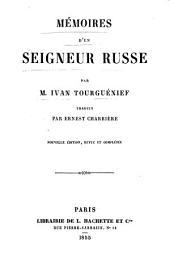 Mémoires d'un seigneur russe