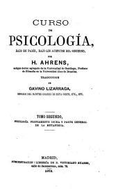 Curso de psicología, dado en París, bajo los auspicios del gobierno: Volumen 2