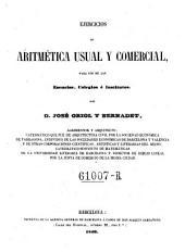 Ejercicios de aritmetica usual y commercial
