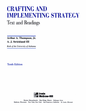 Crafting and Implementing Strategy