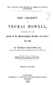 The Convents of the Mystery of Jobbing at Llandaff and Denbigh. The Charity of Thomas Howell ... Second Edition