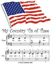 My Country Tis of Thee - Beginner Tots Piano Sheet Music