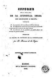 Informe sobre el estado actual de la industria belga con aplicación a España