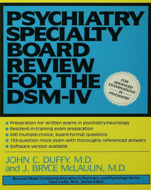 Psychiatry Specialty Board Review For The DSM IV PDF