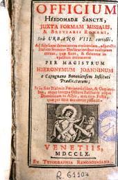 Officium Hebdomadae Sanctae: juxta formam Missalis & Breviarii Romani