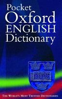 Pocket Oxford English Dictionary Book PDF