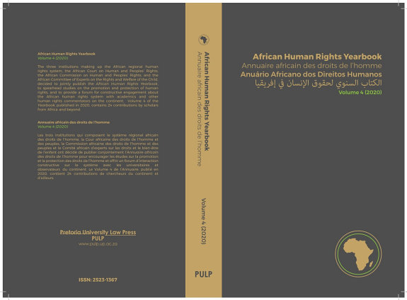 African Human Rights Yearbook Volume 4 2020 PDF