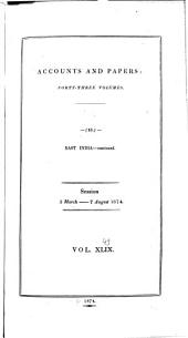 Parliamentary Papers, House of Commons and Command: Volume 49