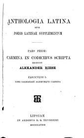 Anthologia Latina, sive, Poesis Latinae supplementum