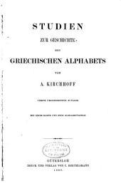 Studien zur Geschichte des griechischen Alphabets