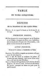 Oeuvres completes de Bossuet, évéque de Meaux: revues sur les manuscrits originaux, et les éditions les plus corrects, Volume5