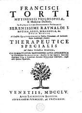 Therapeutice specialis ad febres periodicas perniciosas cui subnectuntur responsiones jatro-apologeticae