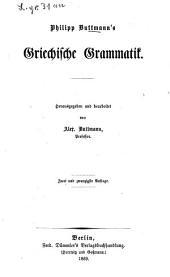 Philipp Buttmann's Griechische Grammatik