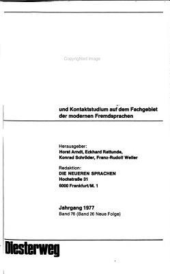 Die Neueren Sprachen PDF