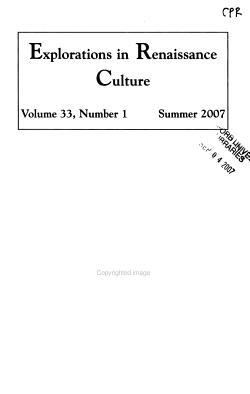 Explorations in Renaissance Culture PDF