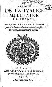 Traicté de la Justice Militaire de France