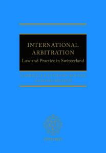 International Arbitration  Law and Practice in Switzerland PDF
