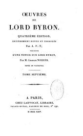 Oeuvres de Lord Byron: Volume 1