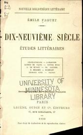 Dix-neuvième siècle: études littéraires, Numéro4