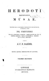 Herodoti Halicarnassensis Musae: Thalia. Melpomene