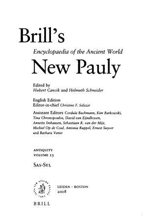 Brill s New Pauly PDF