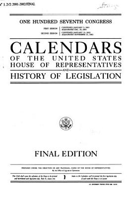 Calendars of the United States House of Representatives and History of Legislation PDF