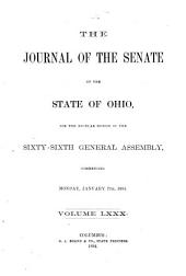 Journal of the Senate of the State of Ohio: Volume 80