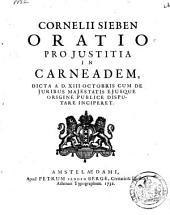 Oratio pro justitia in Carneadem: Volume 1