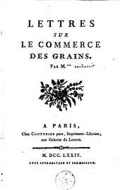 Lettres sur le commerce des grains