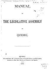 Manual of the Legislative Assembly of Quebec