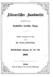 Literarischer Handweiser zunächst für alle katholische Deutschland: Band 31,Ausgaben 543-566