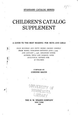 Children s Catalog of Thirty five Hundred Books PDF