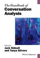 The Handbook of Conversation Analysis PDF