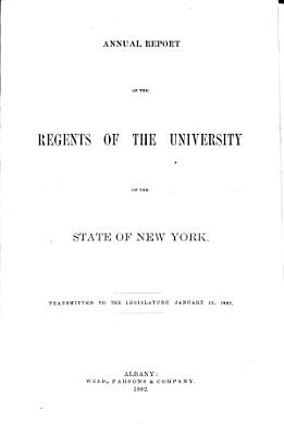 Annual Report of the Regents PDF