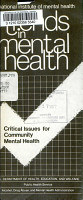 Critical Issues for Community Mental Health PDF