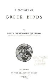 A Glossary of Greek Birds